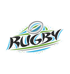 Logo for rugby vector
