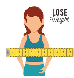 Lose weight concept icons vector