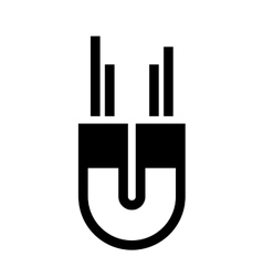 Magnet device isolated icon vector