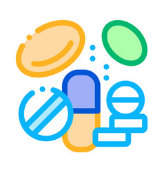 medicines supplements icon vector image