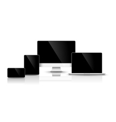Modern black devices vector image