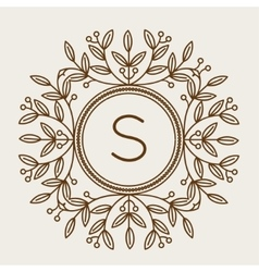 Monogram bage logo vector