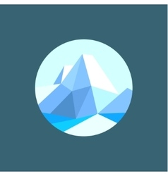 mountain polygon in low poly-style vector image