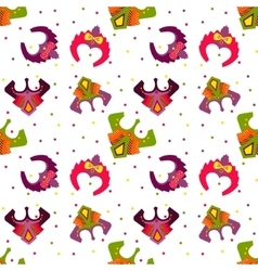 New year 2016 seamless pattern with monkey mask vector image
