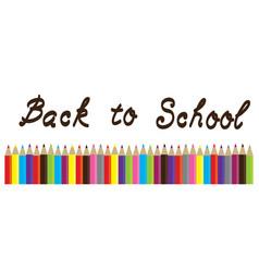 pencils back to school vector image
