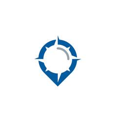 Pin compass logo icon design vector