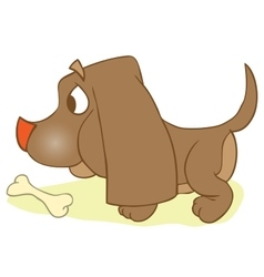 Puppi And Bone Dog With Rawhide Mouth Snack vector