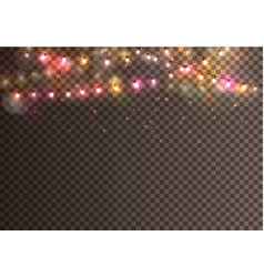 realistic christmas garland on transparent vector image