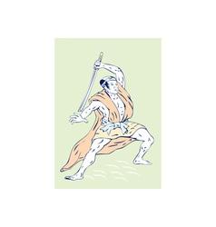 Samurai Warrior Sword vector image