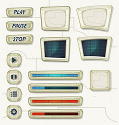 scifi space icons for ui game vector image