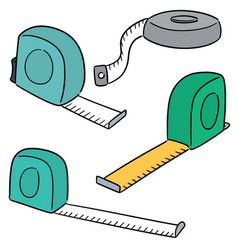 set of measuring tape vector image