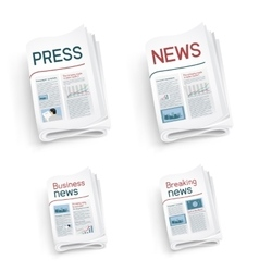set of newspapers vector image