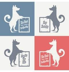 set sign dog vector image