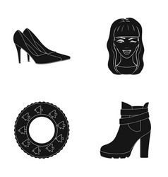 shoe hairdresser textiles and other web icon in vector image
