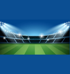soccer or football stadium with spotlight vector image