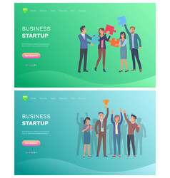 solution to problem and business startup vector image