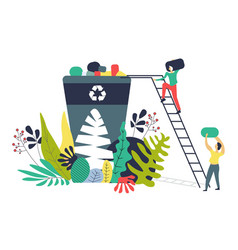 Solving ecological problems separating waste vector