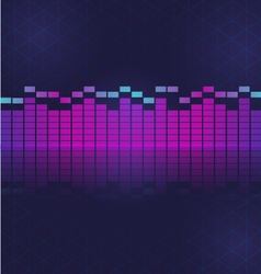 Sound and audio waves equalizer vector