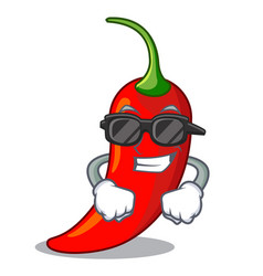 super cool character red chili pepper for vector image