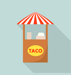 taco street shop icon flat style vector image