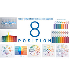 Templates business infographics 8 positions vector