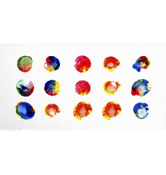 watercolor stains set vector image
