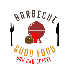 bbq barbecue good food bar and coffee image vector image vector image