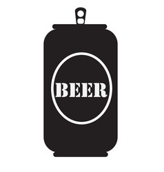 beer can icon beer can icon on white background vector image