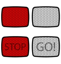 bicycle reflectors red white vector image