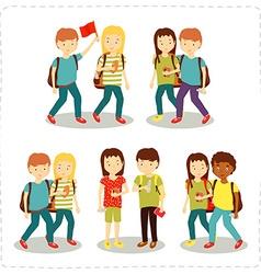 children vector image