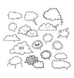 cloud speech bubbles-01 vector image