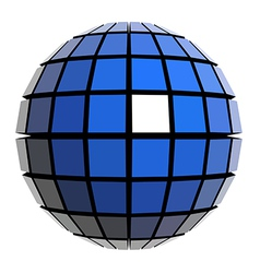Global sphere vector image vector image