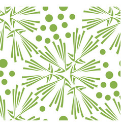 green floral dandelion seamless pattern background vector image vector image