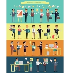 Business People Characters Set vector image vector image