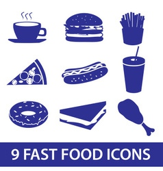fast food icons set eps10 vector image vector image