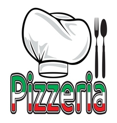 Pizzeria sign vector image