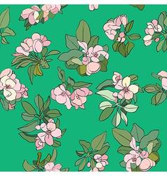 apple flowers pattern vector image vector image