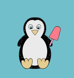 Baby penguin cartoon vector