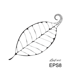 Beautiful leaf isolated vector image