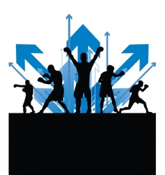 boxing arrows vector image vector image