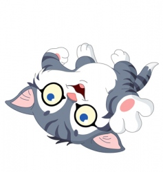 playful kitty vector image vector image