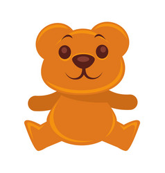 plush teddy bear isolated on vector image vector image