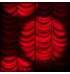 Red curtain with spot light EPS 10 vector image vector image