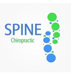 Spine logo Spine chiropractic vector image