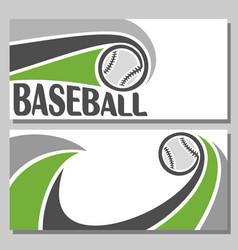 baseball banners vector image vector image