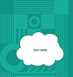 Cloud with various item on blue background vector