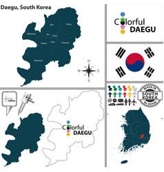 daegu metropolitan city south korea vector image vector image
