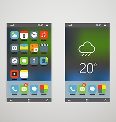 Modern smartphones with different application vector image vector image