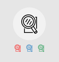 A set of search-icons banner vector