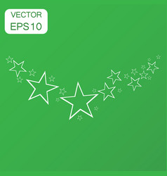 abstract falling star icon business concept stars vector image
